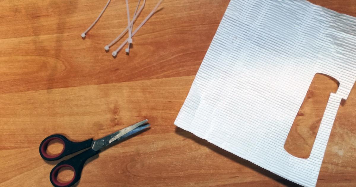 Piège à poux rouges en papier roulé