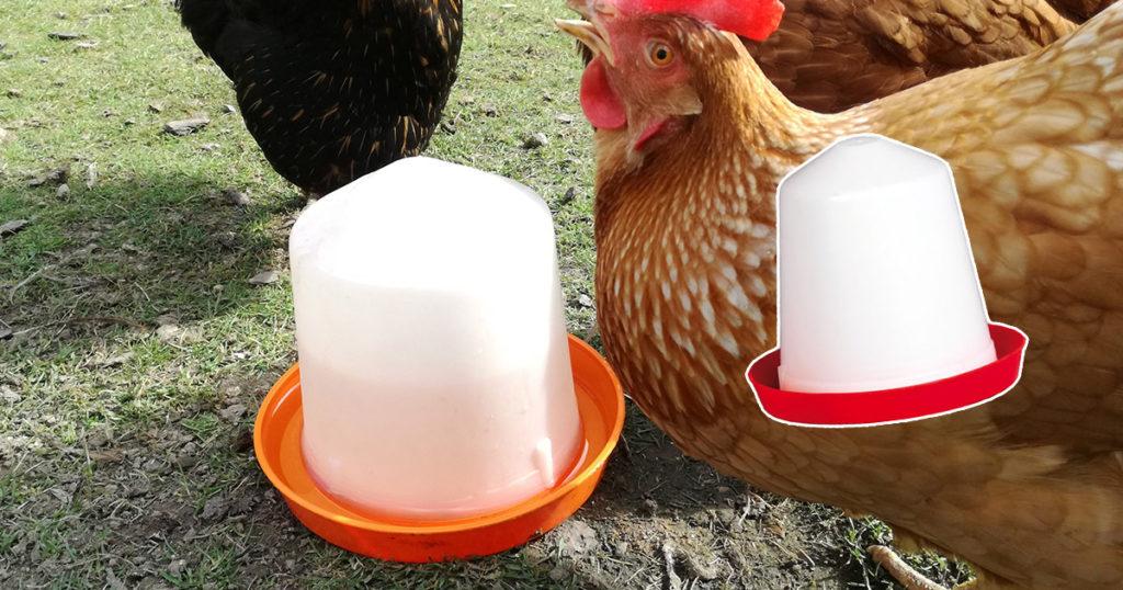 Abreuvoir poules sur pieds en plastique FARMZ automatique pour Elevage Poulailler volaille mangeoire 8L