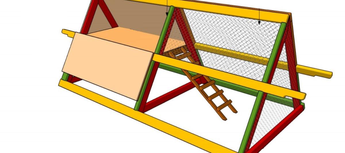 poulailler triangle 1200x533 - Fabriquer un poulailler triangulaire
