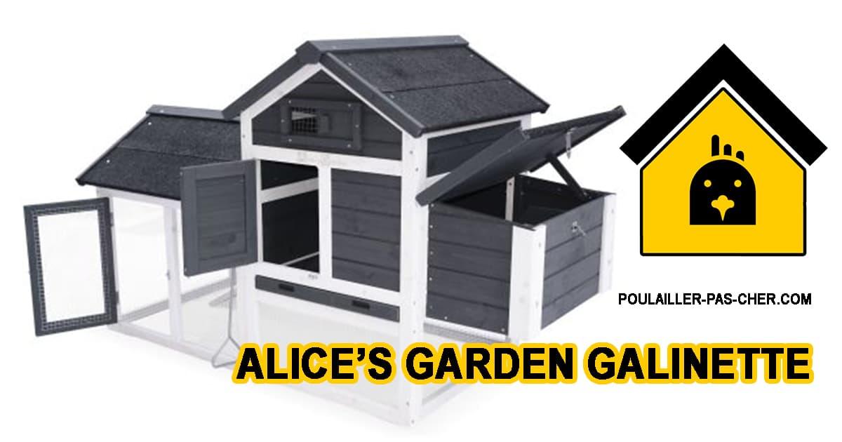 Alice's Garden Poulailler en Bois GALINETTE
