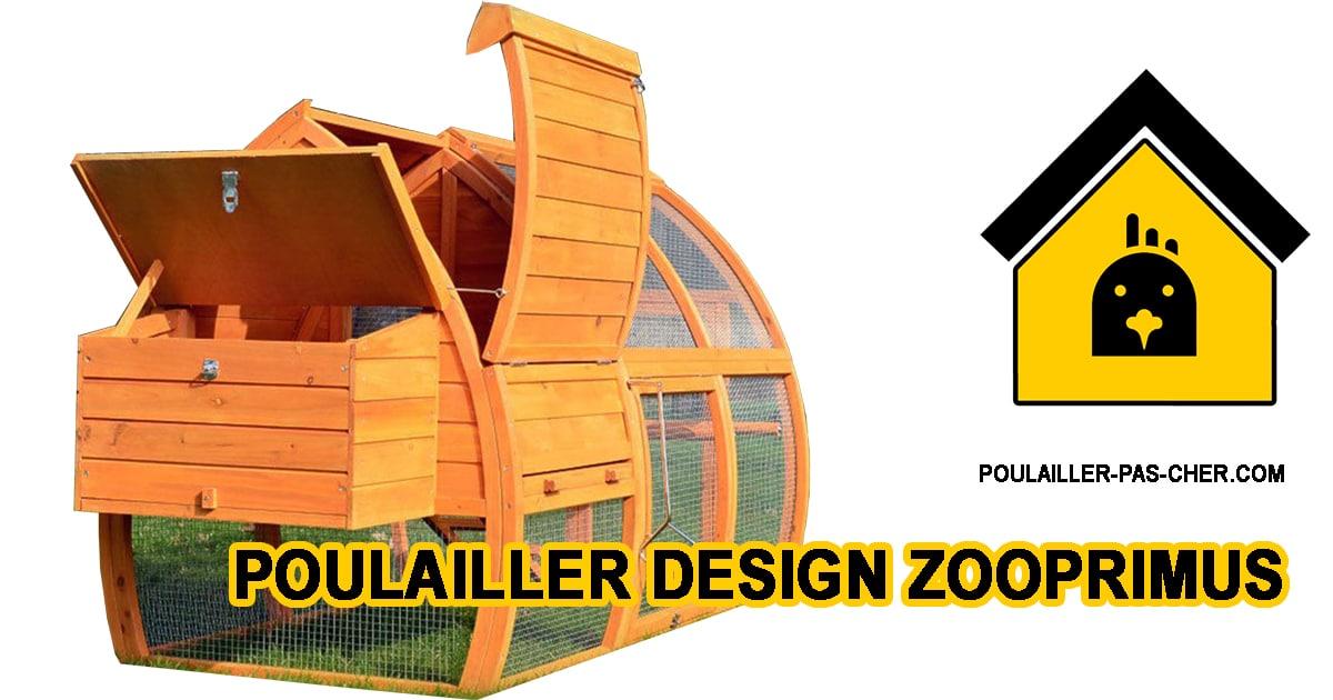 POULAILLER ZOOPRIMUS B01D06VJ3M - Le poulailler en bois design de Zooprimus