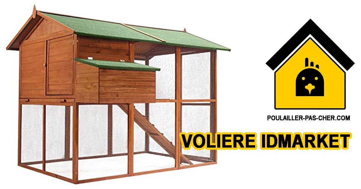 poulailler voliere idmarket - Le poulailler volière duplex XXL de IDMarket