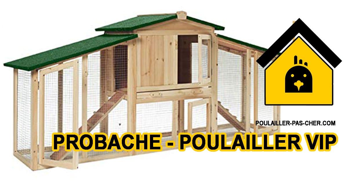 Probache – Poulailler VIP clapier Double XXL en Bois